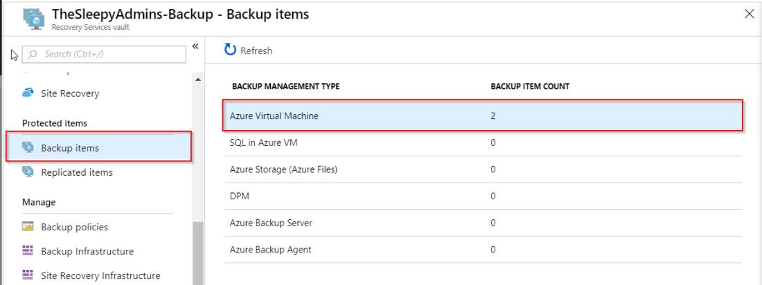 Azure VM Backup using Azure Recovery Service Vault