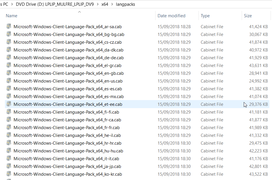 SCCM Task Sequence Windows 10 Language Pack's Install